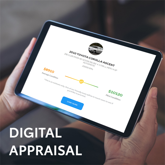 Digital Appraisals on your current car