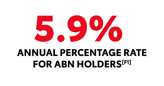 5.9% Annual Percentage Rate for ABN Holders [F1]